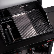 Cast Iron Grates & Top-Ported Burners